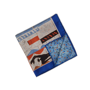 Stenstroms Printed Silk Reversible Pocket Square ~ Made in Italy
