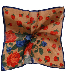 Stenstroms Printed Silk Pocket Square ~ Made in Italy