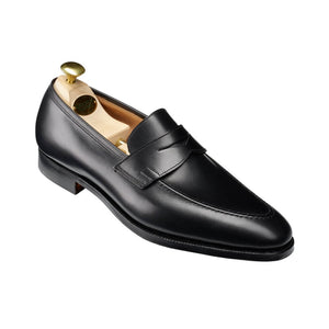 Crockett & Jones Sydney Black Leather Loafers Shoes 10.5/11 Made in England
