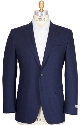 CANALI 1934 Navy Blue Wool Two-Button Suit 48L (EU 60L) Tailored in Italy