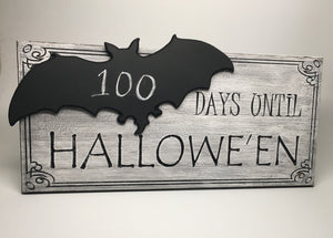 Halloween Countdown Chalkboard- BAT