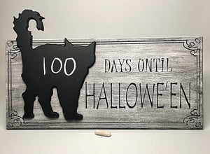 Halloween Countdown Chalkboard- CAT