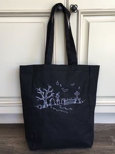 Ghostly Graveyard Tote- Glow in the Dark!