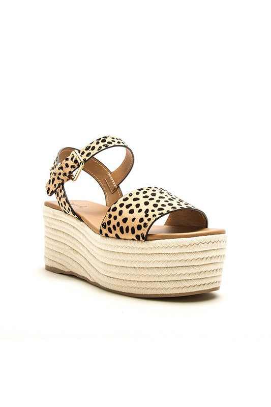 Speckled Cheetah Platform Sandal