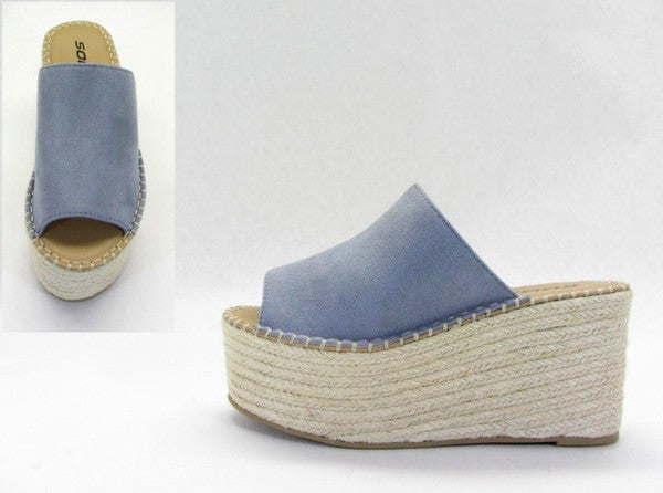Indigo Platform Wedge