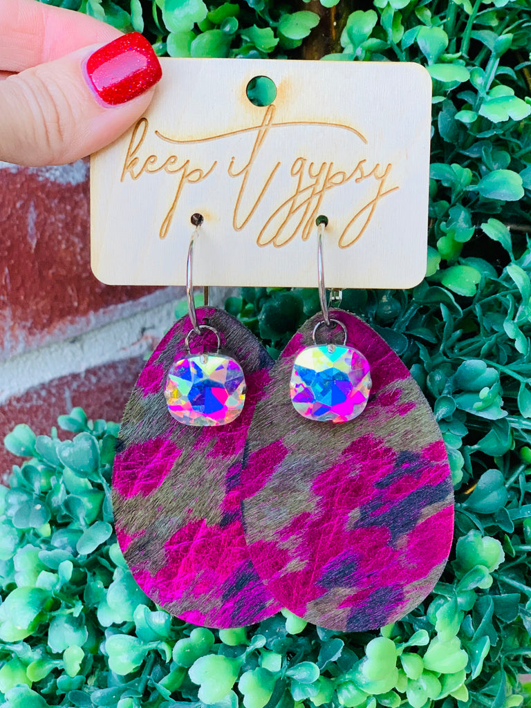 Barbie Camo AB Tear Drop Earrings