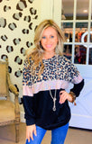 Love for leopard sequin light weight sweater