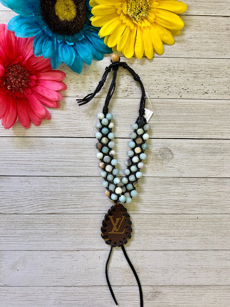 African Turquoise Beaded Choker Necklace