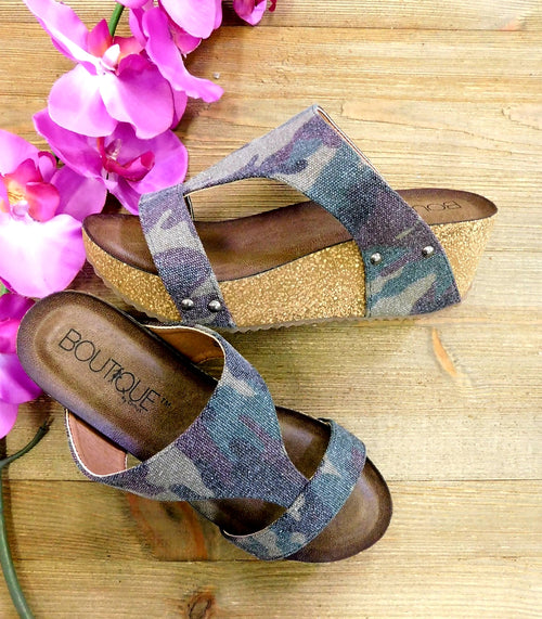 Camo Distressed Wedges by Corkys