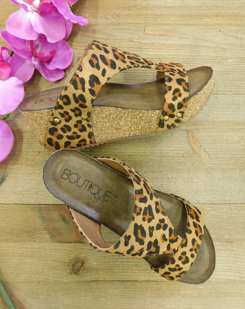 Leopard print Wedges by Corky's