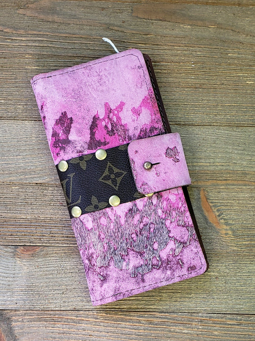 Pink acid wash hair on hide Iphone case