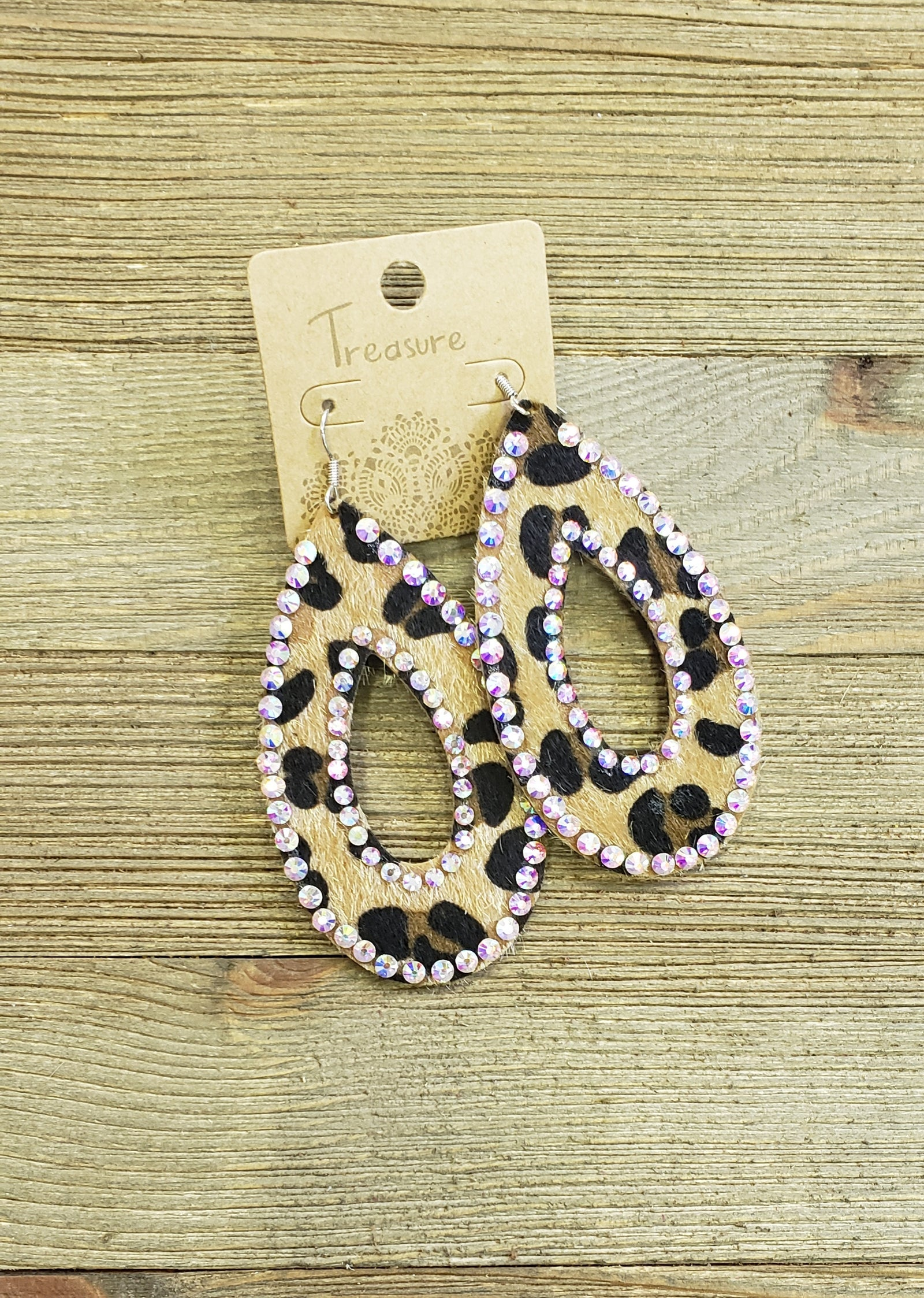 Leopard AB Oval Earrings