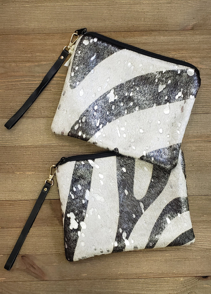 Zebra Acid Wash Wristlet