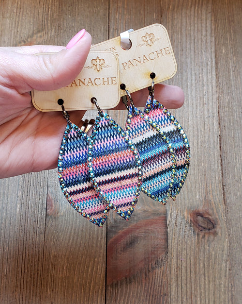 Aztec Pink Panache Earrings