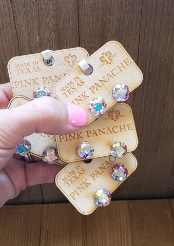 AB crystal studs by Pink Panache