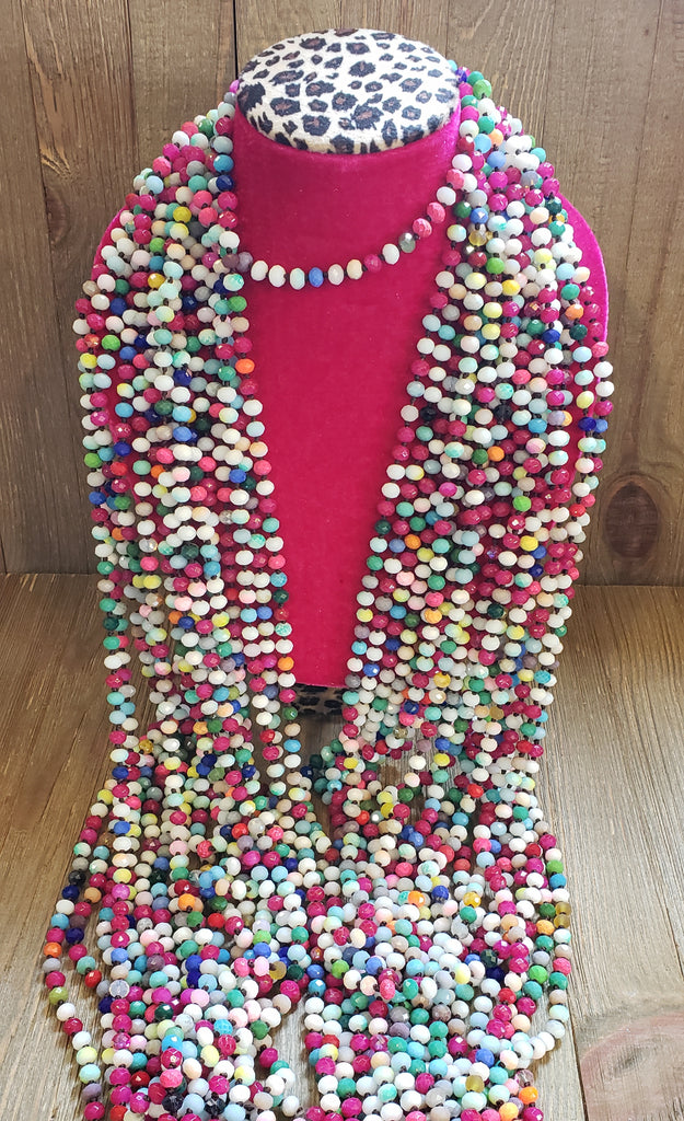 Multi Color Chunky Bead Necklace