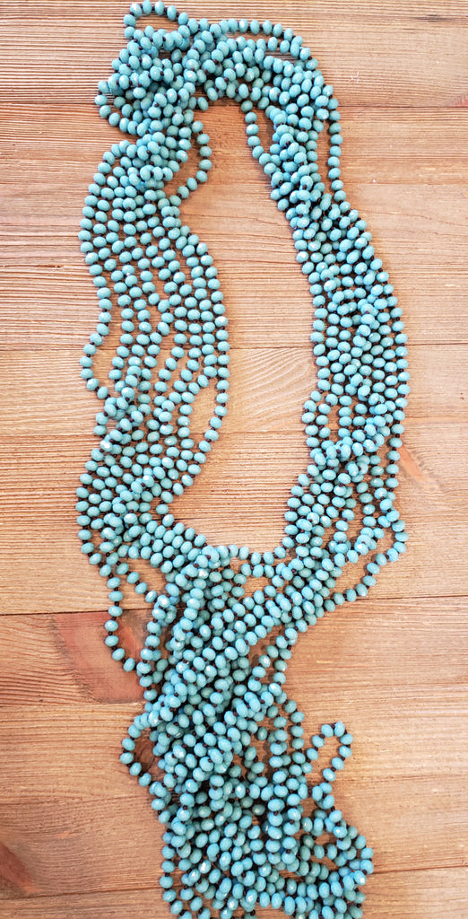 Bluish Shimmer Bead Necklace