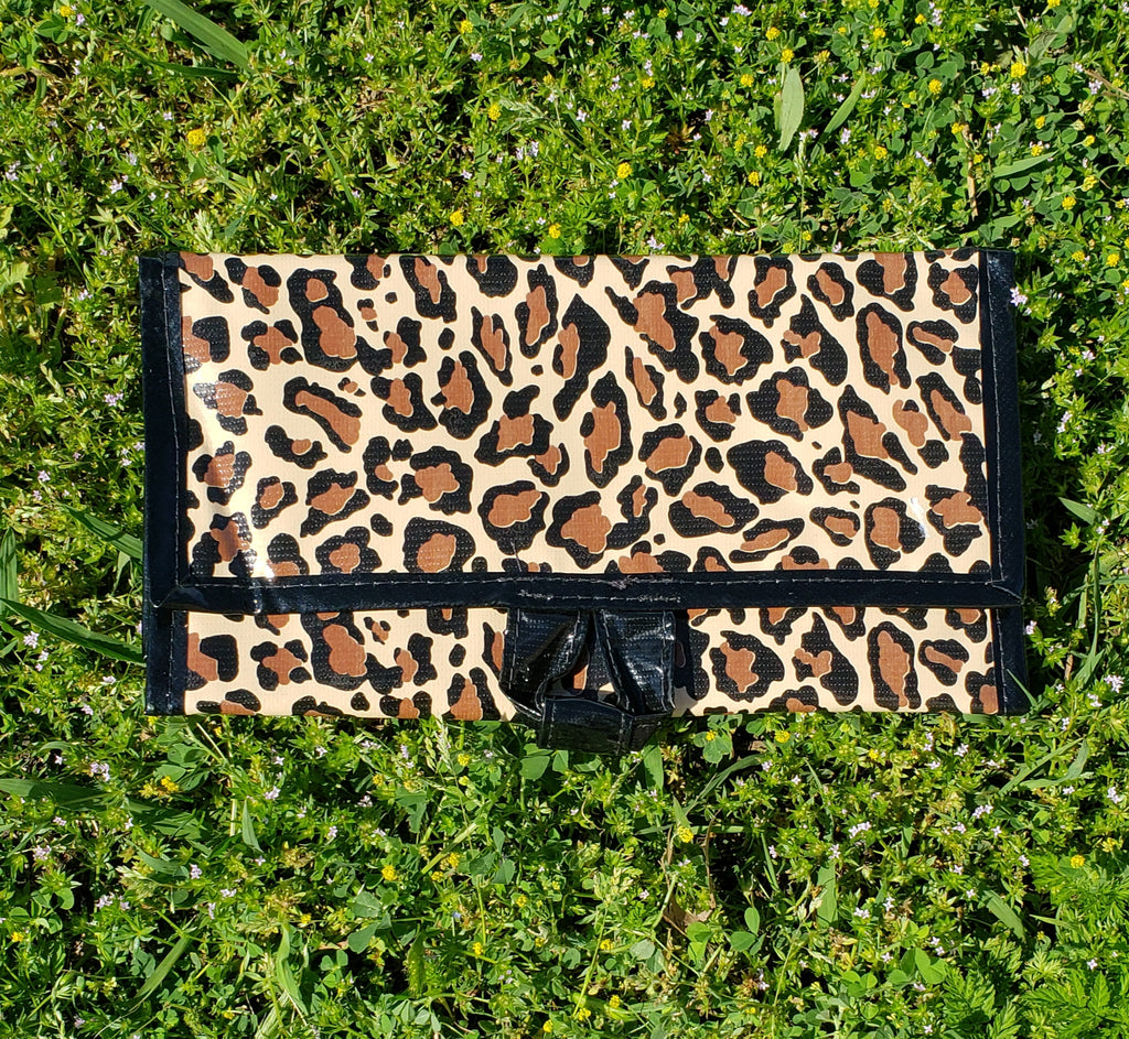 Brown Leopard Roll Up Travel Bag