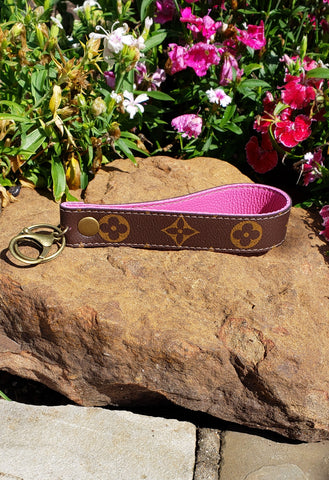 Brown & Pink LV Key Fob
