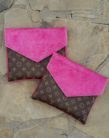 Simply Chic Hot pink hair on hide crossbody