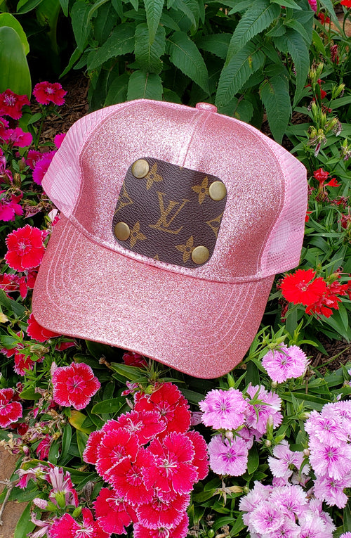 Blush Glitter LV Hat