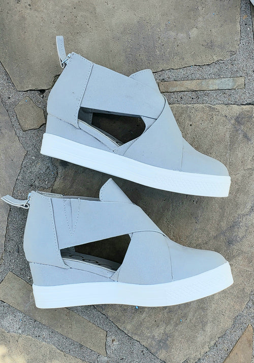 Grey Melody Wedge Shoe