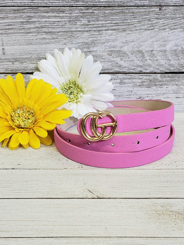 Pink designer gold inspired belt