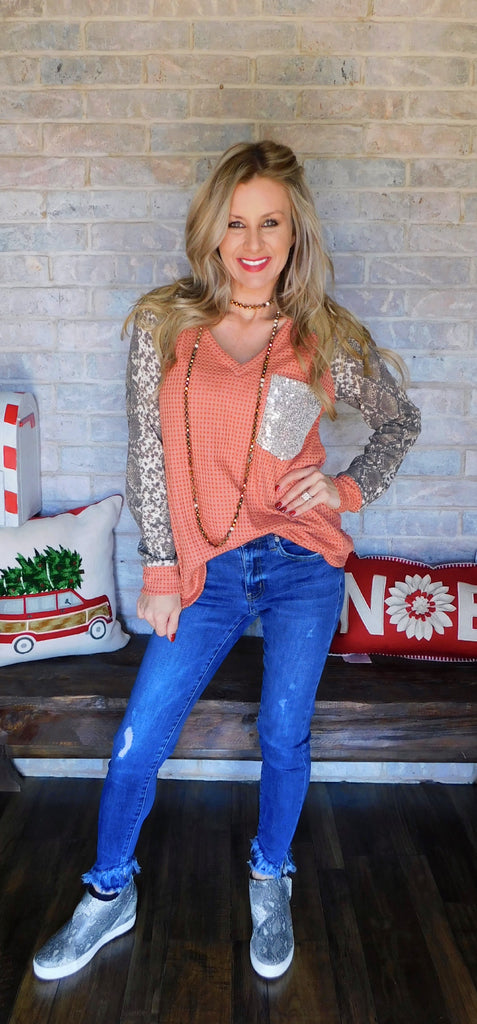 The Rustic Python Long sleeve Top