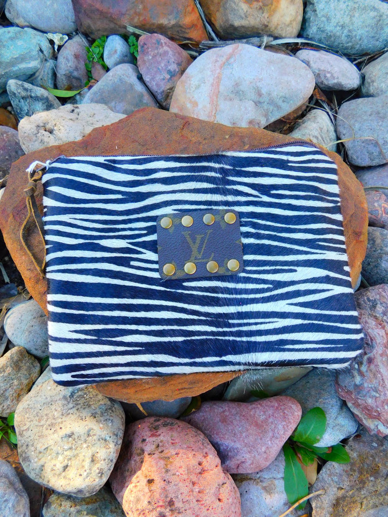 Living on the Wild side Zebra print Makeup Clutch by Keep it Gypsy