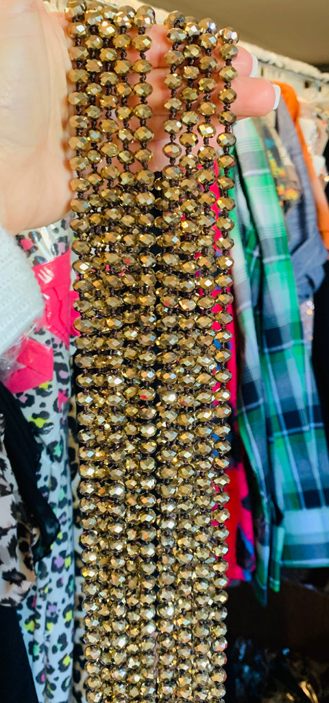 Metallic Gold chunky bead necklace