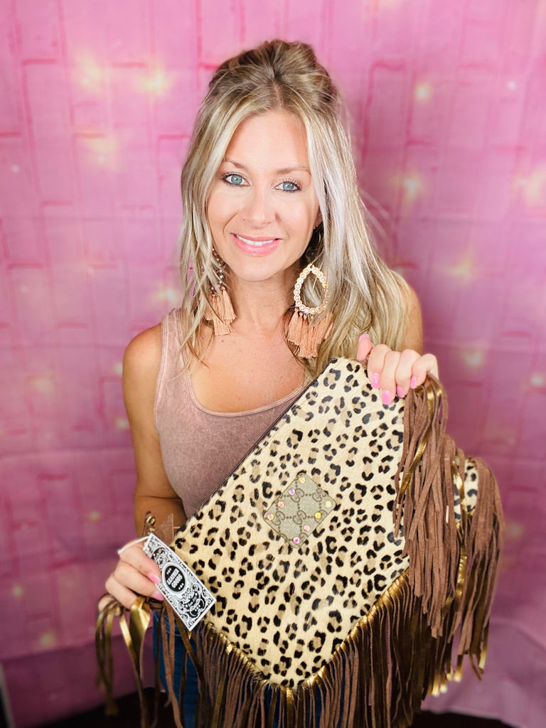 Light  leopard Hide GG upcycled Maxine