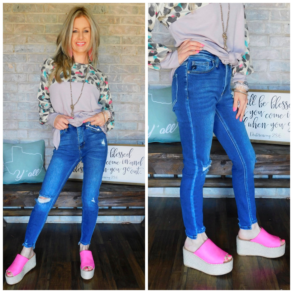 Southern Girls Dream Denim Skinnies By Kan Can