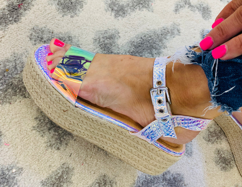 Pinkish Mermaid Wedge Sandal