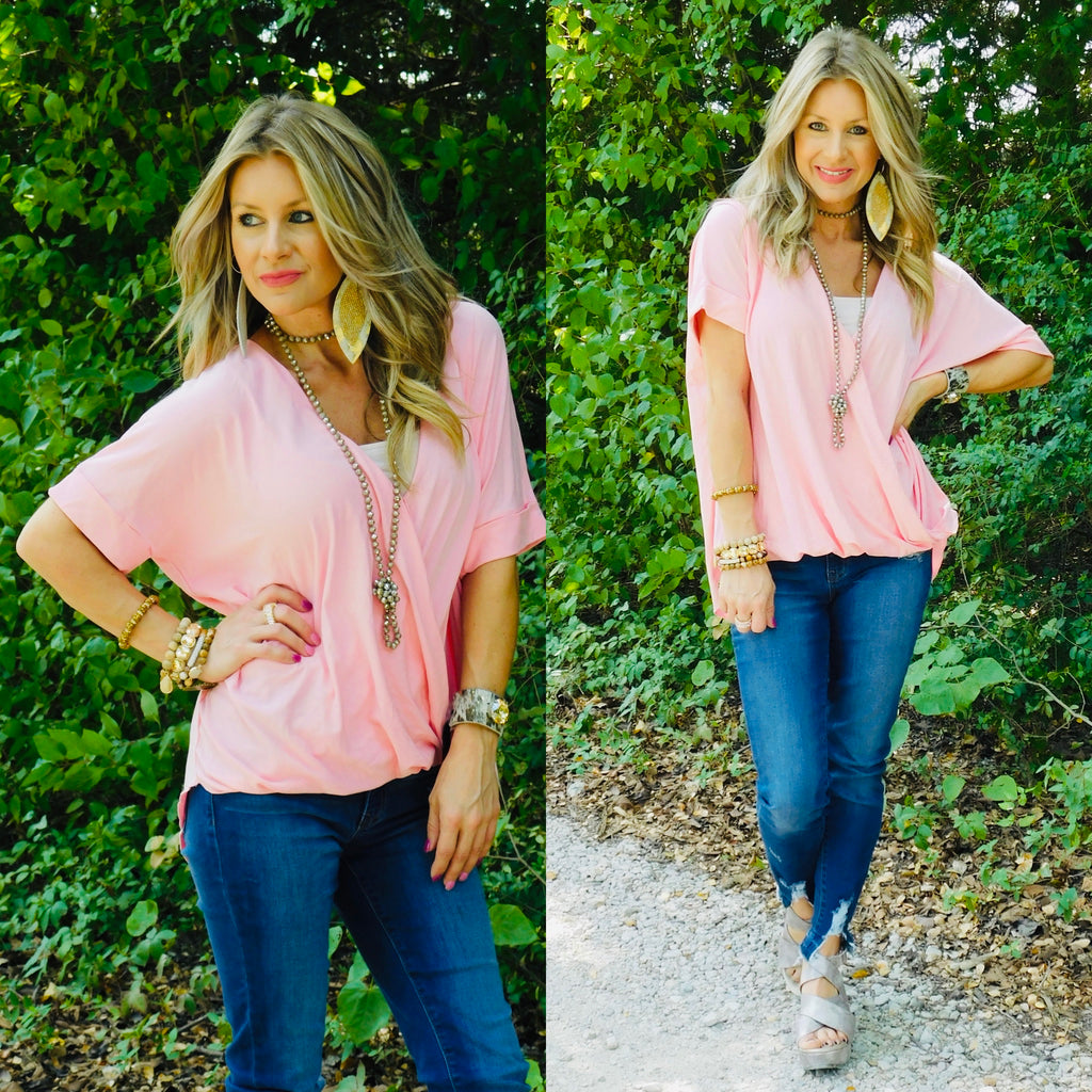 Pink chic Southern Blouse