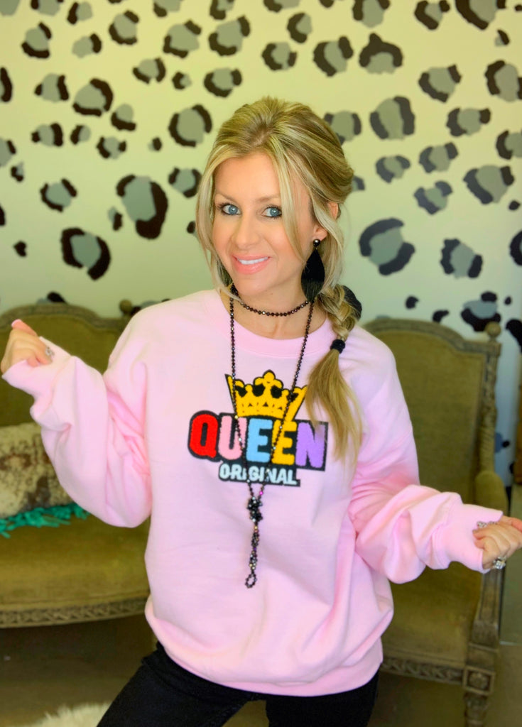 Blush Queen Original sweatshirt by Queen Bee