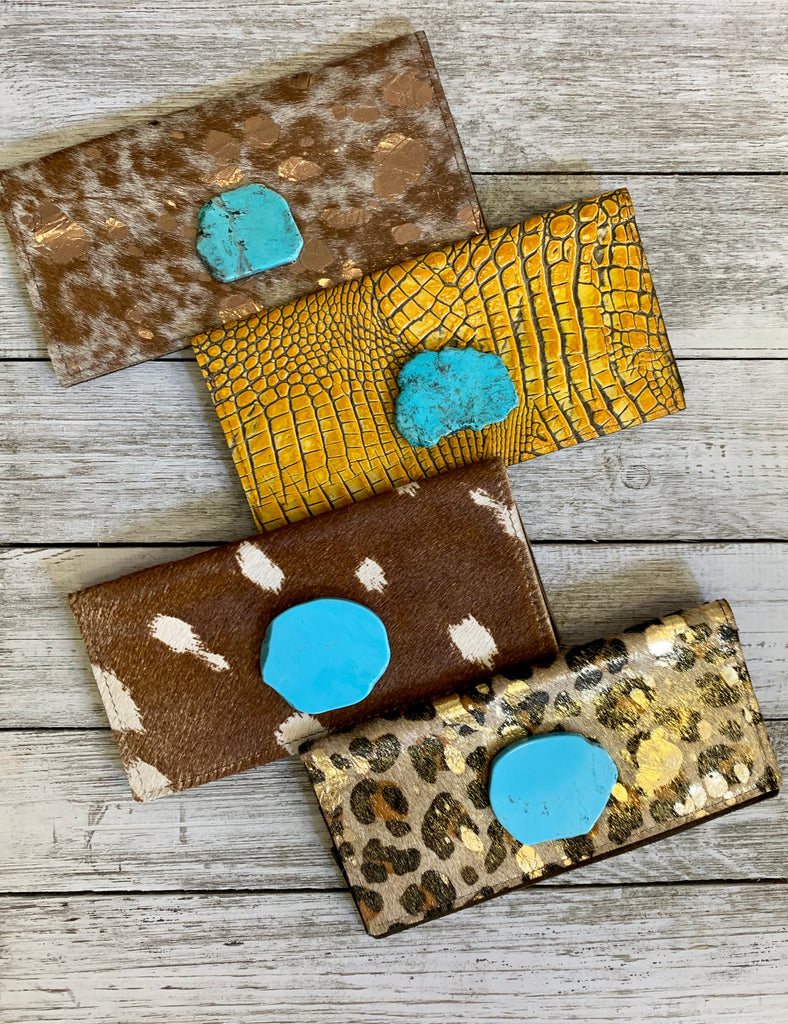 Keep it Gypsy turquoise slab wallets