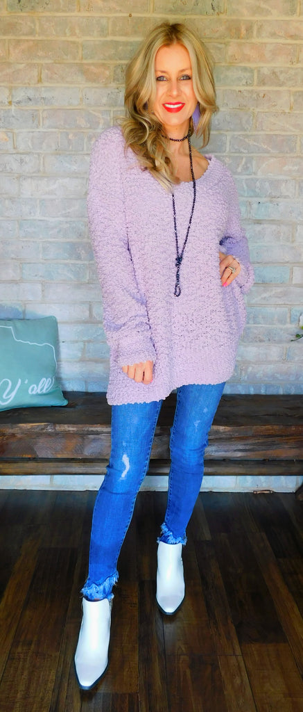 Poppin' In Lavender Long sleeve Top