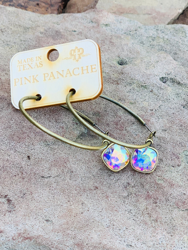AB golden hoops by Pink panache