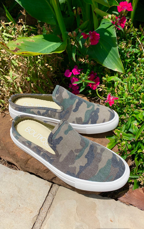 Corkys Abbot Faded Camo Slip on Tennis Shoe