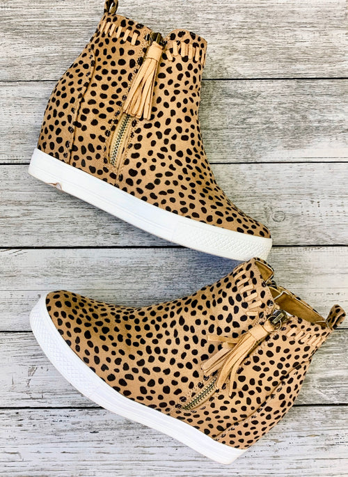 Taylor Cheetah Wedge tennis shoes