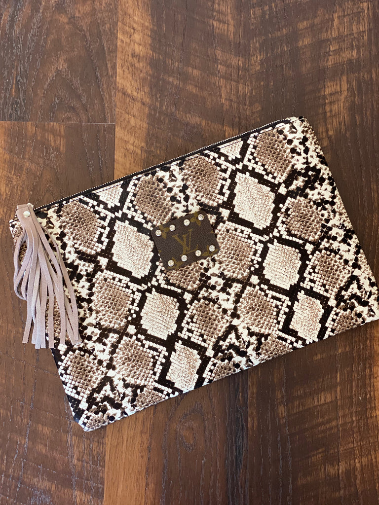 Large Brown Snake Clutch by Keep It Gypsy