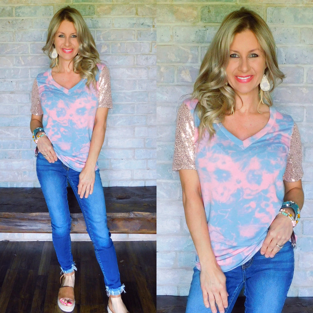 Cotton Candy Dreams Sequin Top