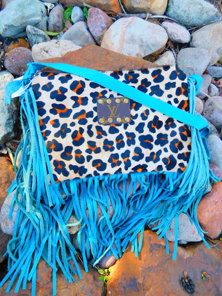 Leopard & Turquoise Croc Maxine Crossbody by Keep it Gypsy