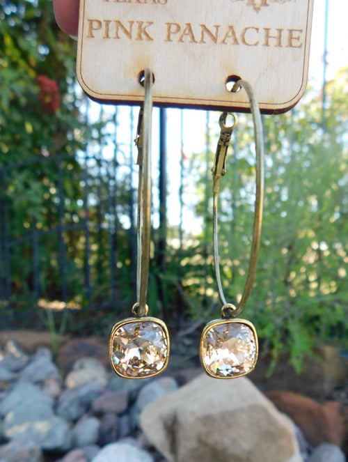 Light Silk Cushion Hoop Earrings by Pink Panache