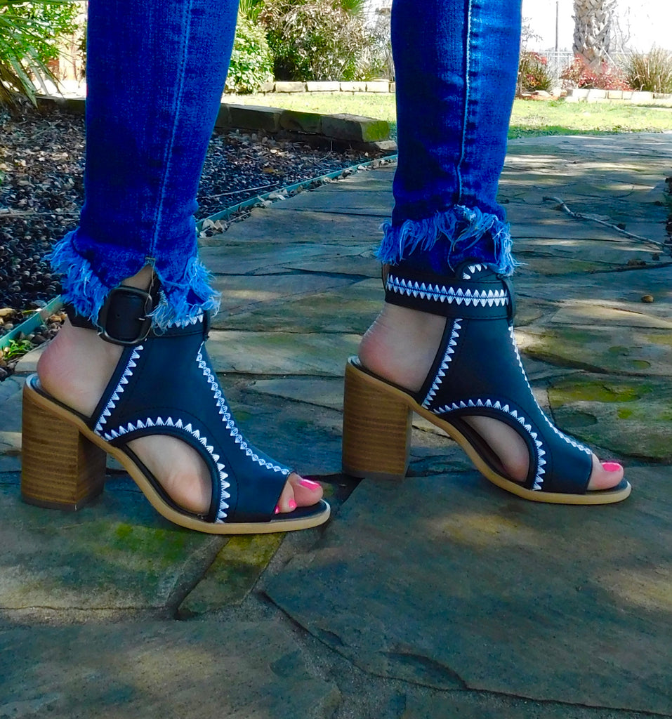 Western Odette heels by Very Volatile