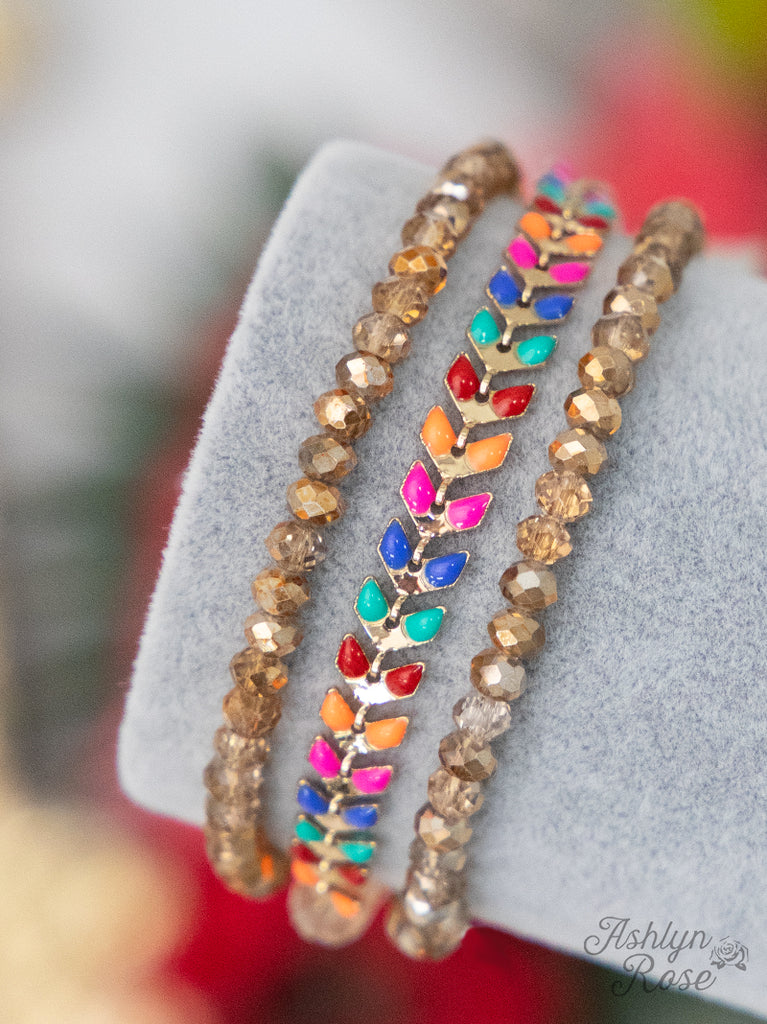 So Dainty & Sweet Multi Color Bracelet Set