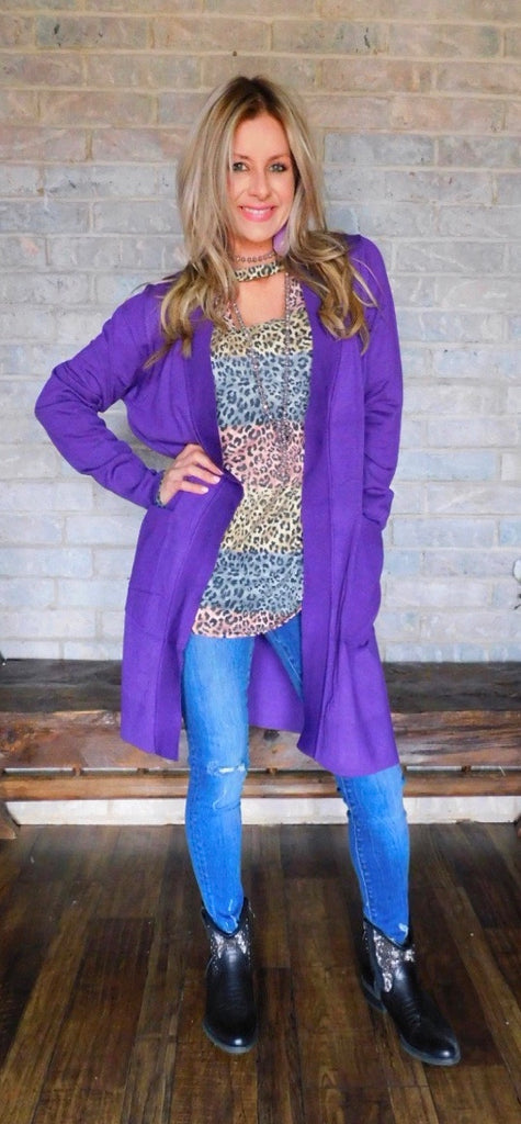 True Purple Cardigan ~Curvy
