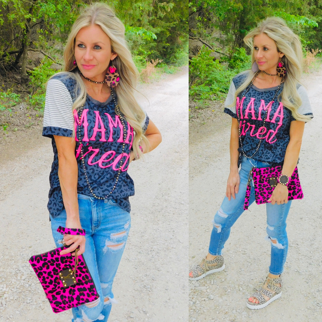 Barbie Leopard Hair on Hide Upcycled Clutch Purse