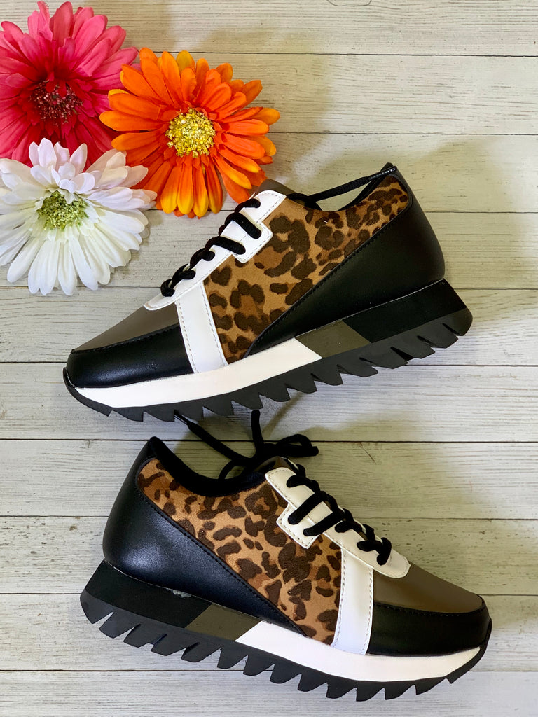 Not Rated Leopard Tennis Shoe