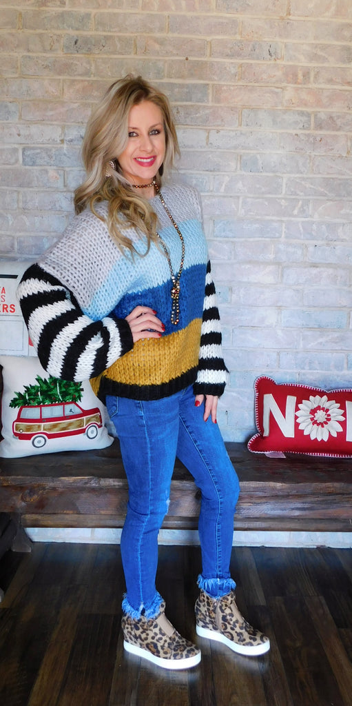Once In A Blue Moon Knit Sweater